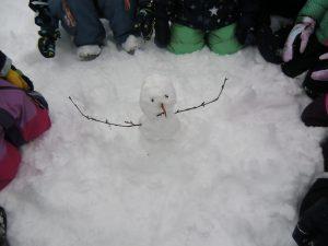 Unser erster Schneemann.