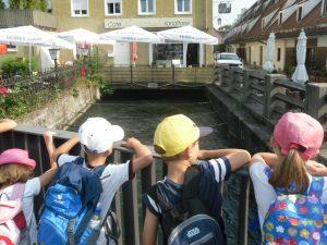 Der Mühlbach in der Stadt.