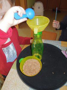 Wieviele Linsen passen in die Flasche?