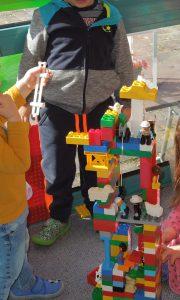 Auch wir Kleinen können super bauen.