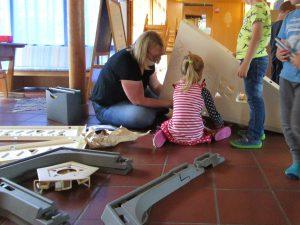 Vom Elternbeirat habe wir viele neue Spielsachen gespendet bekommen.